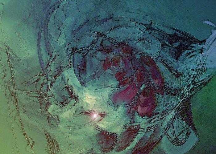 Serpent Head Greeting Card featuring the digital art Serpent Head by Linda Sannuti