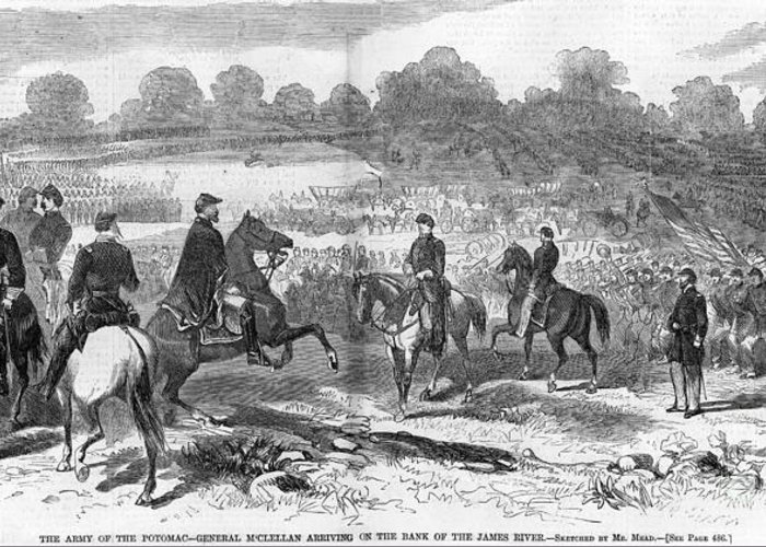 1862 Greeting Card featuring the photograph Seven Days Battles, 1862 by Granger