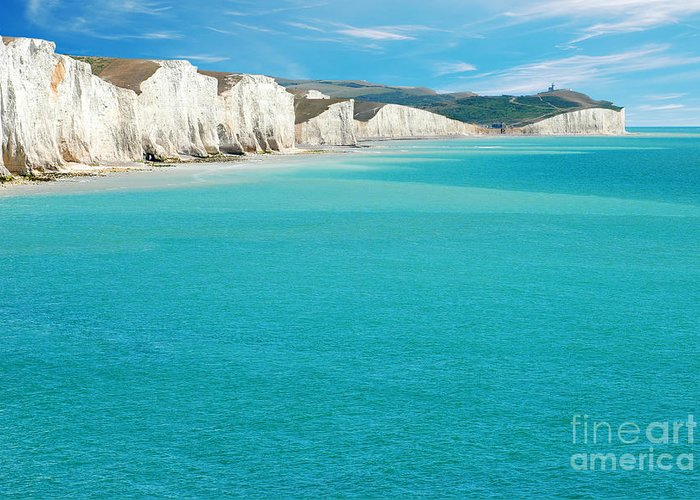 Beach Greeting Card featuring the photograph Seven Sisters England by Michael Gray