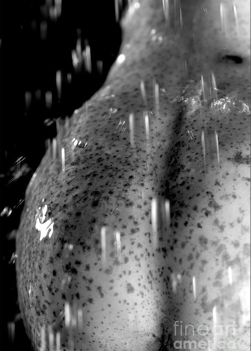 Provoking Greeting Card featuring the photograph Sexy Pear Taking Shower by Igor Kislev