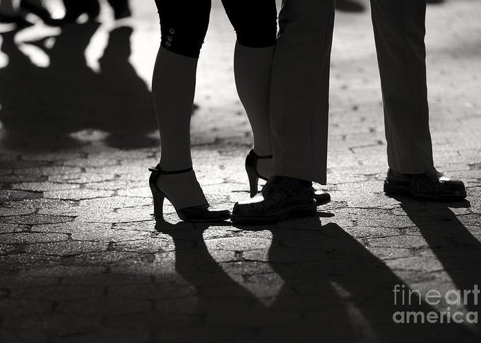 Tango Greeting Card featuring the photograph Shadows Of Tango by Leslie Leda