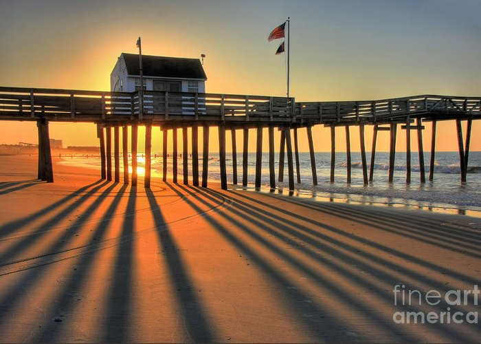 Landscape Greeting Card featuring the photograph Shadows On The Shore by John Loreaux