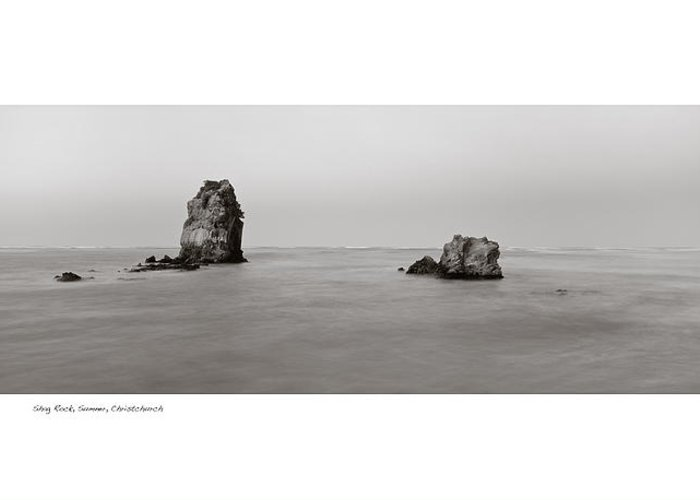 Landscape Greeting Card featuring the photograph Shag Rock Sumner by Peter Millar