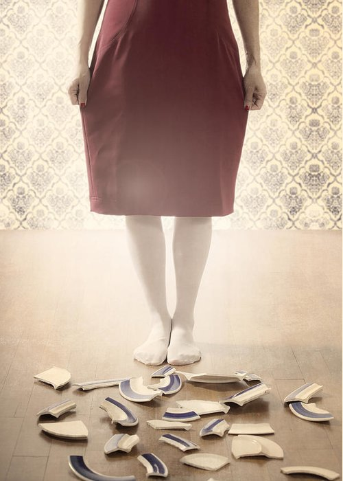 Feet Greeting Card featuring the photograph Shards by Joana Kruse