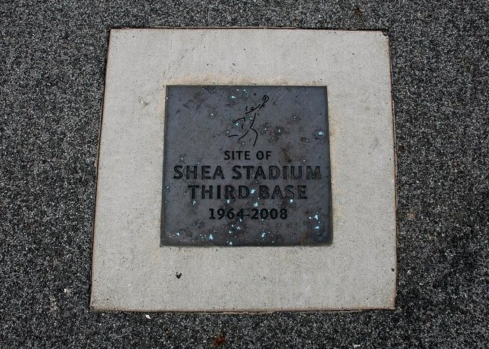 Shea Stadium Greeting Card featuring the photograph Shea Stadium Third Base by Rob Hans