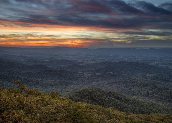 Shenandoah Greeting Card featuring the photograph Shenandoah Sunset by Pierre Leclerc Photography