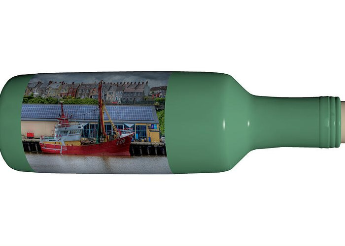 3d Greeting Card featuring the photograph Ship on a Bottle with White by Steve Purnell