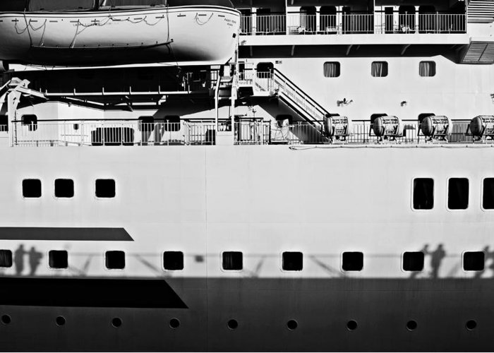 Ship Greeting Card featuring the photograph Ship Watching by Dean Harte