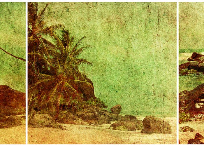 Photomanipulation Greeting Card featuring the photograph Shipwrecked by Andrew Paranavitana