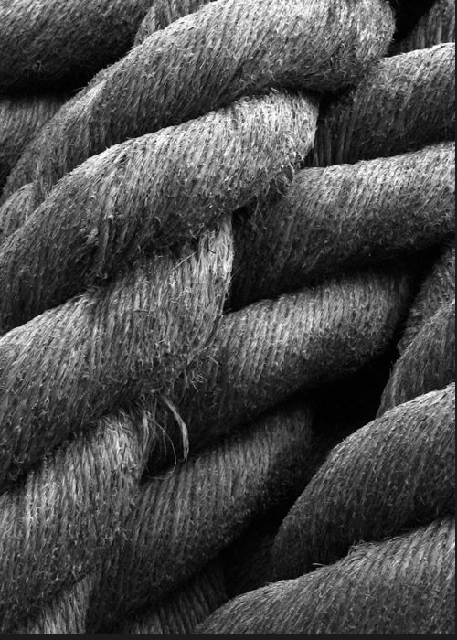 Rope Greeting Card featuring the photograph Shipyard Braid by Calvin Wray