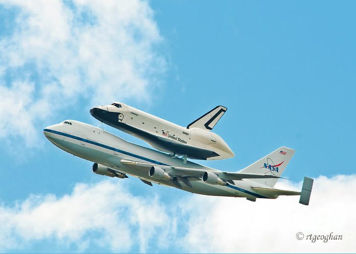 Enterprise Greeting Card featuring the photograph Shuttle Enterprise Comes To Ny by Regina Geoghan