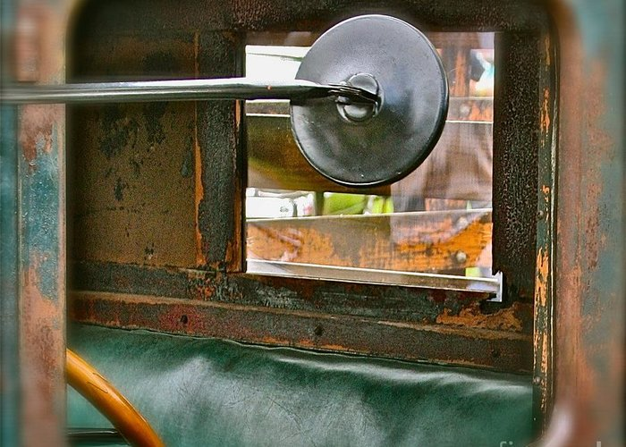Old Truck Greeting Card featuring the photograph Side View Window by David Hubbs