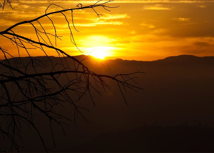 Sunset Greeting Card featuring the photograph Sierra Dusk by Ren Alber