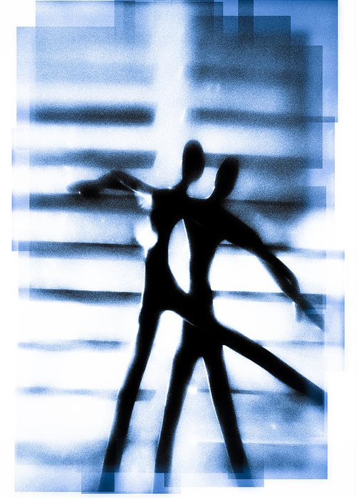 Silhouette Greeting Card featuring the photograph Silhouette Of Dancers by David Ridley