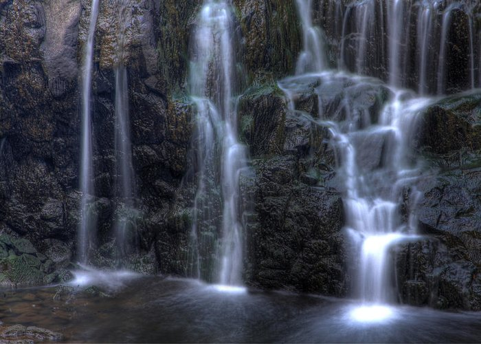 Buttermilk Falls Greeting Card featuring the photograph Silk by Jeff Bord