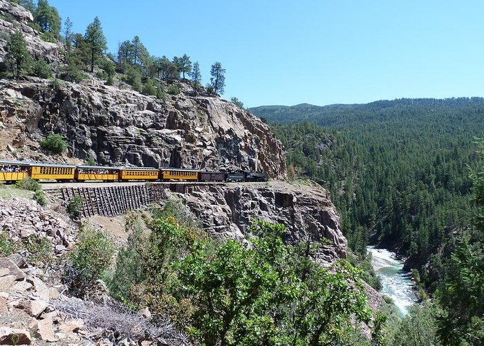 Silverton Greeting Card featuring the photograph Silverton Train by Tracy Salava