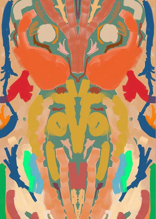 Abstract Greeting Card featuring the digital art Simmie by Mark Stidham