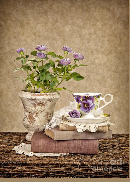 Teacup Greeting Card featuring the photograph Simple Pleasures by Cheryl Davis