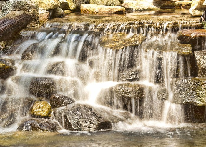 Waterfall Greeting Card featuring the photograph Simple Yet Powerful Waterfall by Daphne Sampson