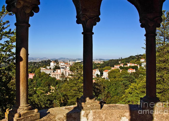 Ancient Greeting Card featuring the photograph Sintra Balcony by Carlos Caetano