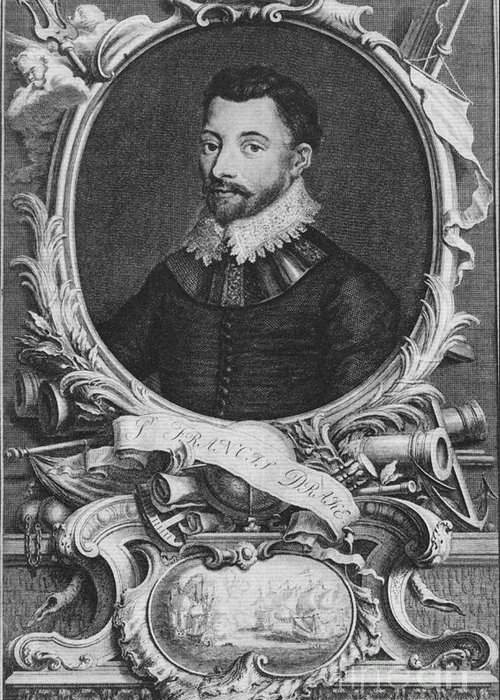 History Greeting Card featuring the photograph Sir Francis Drake, English Explorer by Photo Researchers, Inc.