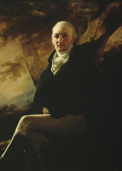 Sir Greeting Card featuring the painting Sir James Montgomery by Sir Henry Raeburn