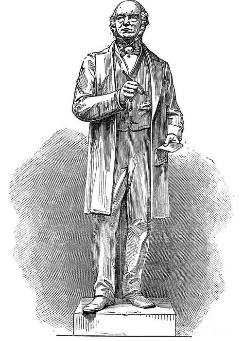 19th Century Greeting Card featuring the photograph Sir Rowland Hill (1795-1879) by Granger