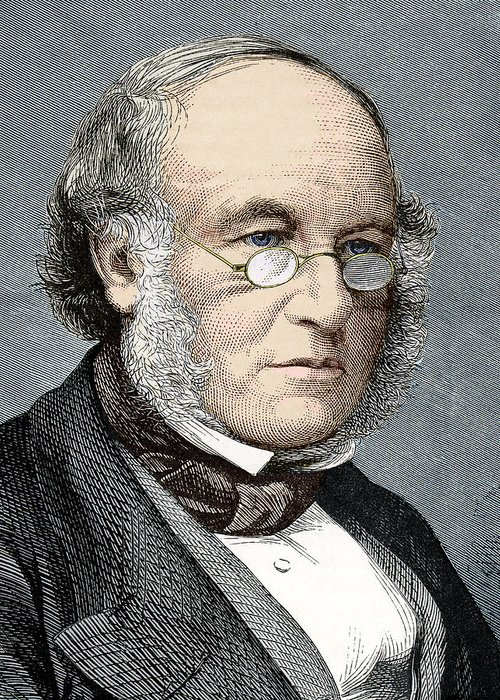 Sir Rowland Hill Greeting Card featuring the photograph Sir Rowland Hill, Postal Reformer by Sheila Terry
