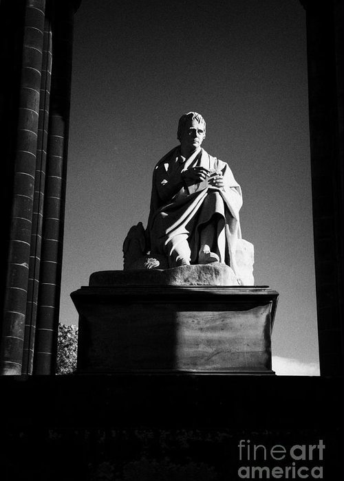 Sir Greeting Card featuring the photograph Sir Walter Scott Statue Inside The Monument On Princes Street Edinburgh Scotland Uk United Kingdom by Joe Fox