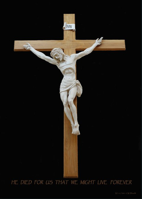 Jesus Greeting Card featuring the photograph Sjncc Crucifix 1 Two K Eleven by Carl Deaville