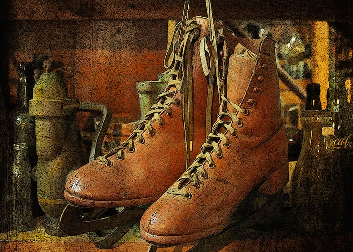 Skates Greeting Card featuring the photograph Skates by Karen Lynch