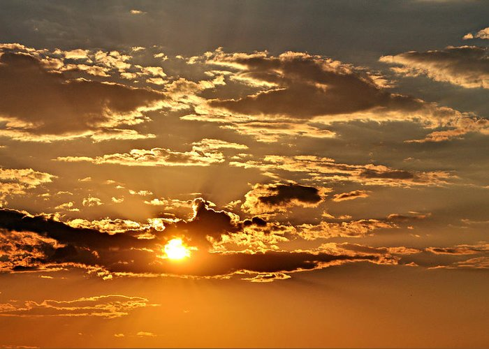 Sun Greeting Card featuring the photograph Sky Ablaze 1 by Marty Koch