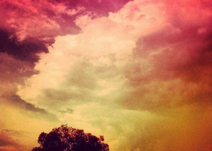Love Greeting Card featuring the photograph #sky #cary #colourful #clouds ☁ by Katie Williams
