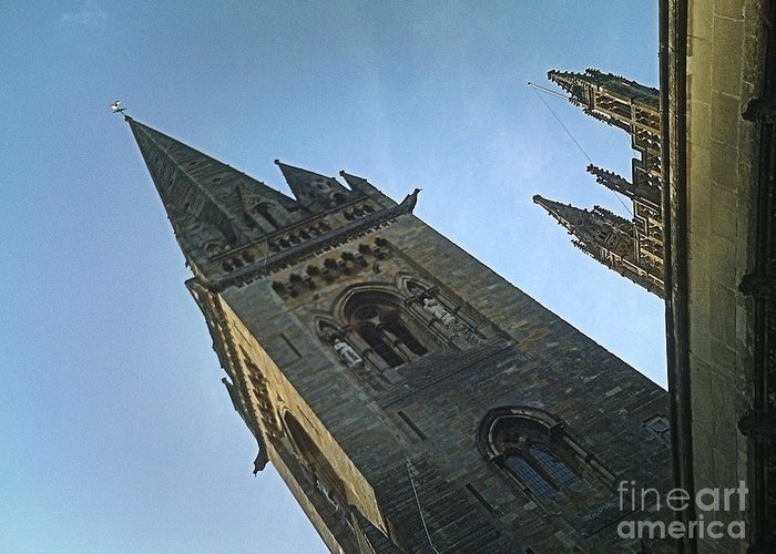 Sky Spire Greeting Card featuring the photograph Sky Spire by Jennifer Sabir