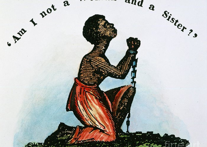 1832 Greeting Card featuring the photograph Slavery: Woman, 1832 by Granger