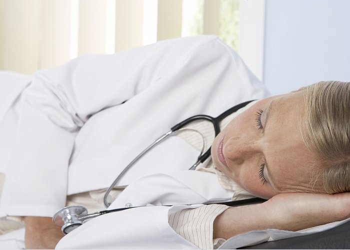 Human Greeting Card featuring the photograph Sleeping Doctor by Adam Gault