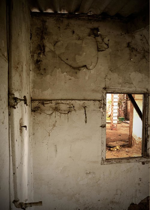 Window Greeting Card featuring the photograph Small Window In An Abandoned Kitchen by RicardMN Photography