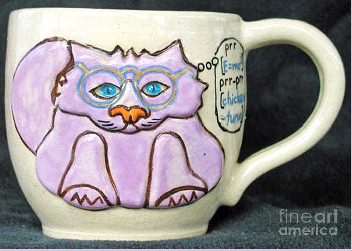 Kitty Greeting Card featuring the photograph Smart Kitty Mug by Joyce Jackson