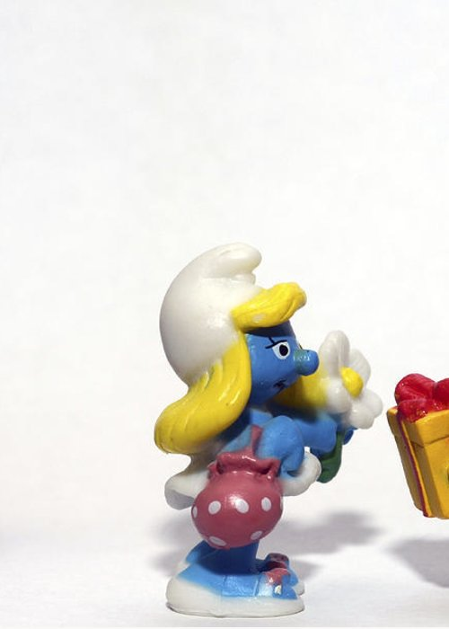 Smurf Greeting Card featuring the photograph Smurf Figurines by Amir Paz
