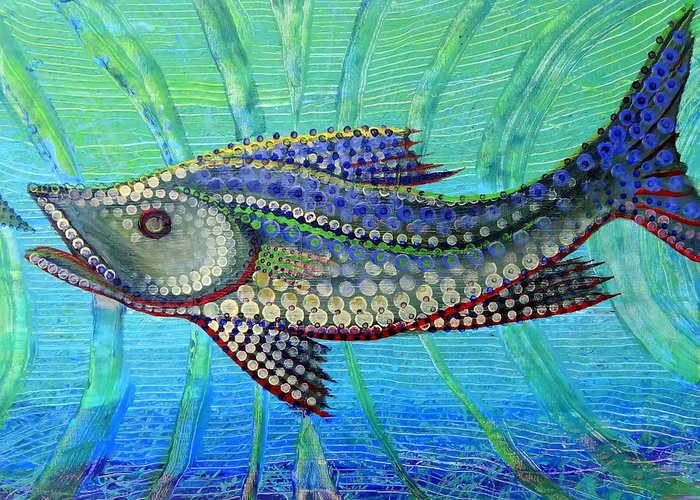 Art Greeting Card featuring the painting Snook After Tail by Jeremy Smith