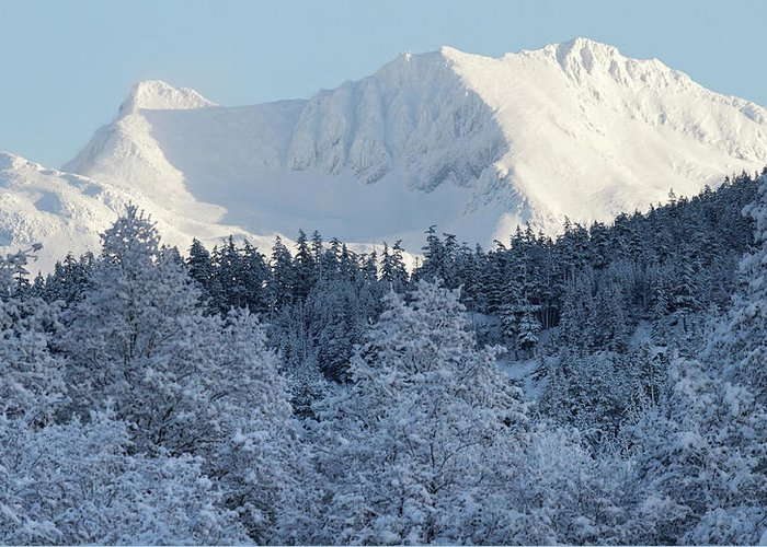 Whistler Greeting Card featuring the photograph Snow Covered Mount Currie From Whistler by Pierre Leclerc Photography