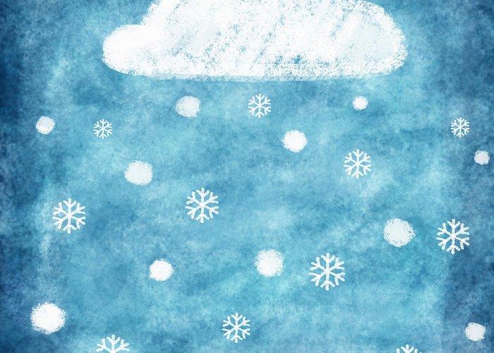 Art Greeting Card featuring the photograph Snow Winter by Setsiri Silapasuwanchai