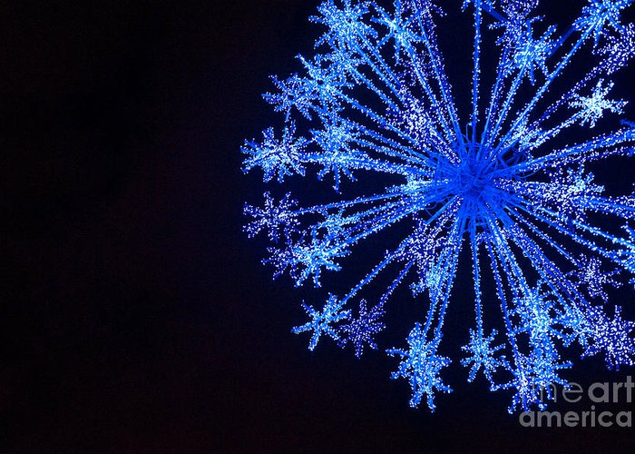 Blue Greeting Card featuring the photograph Snowflake Sparkle by Anca Jugarean
