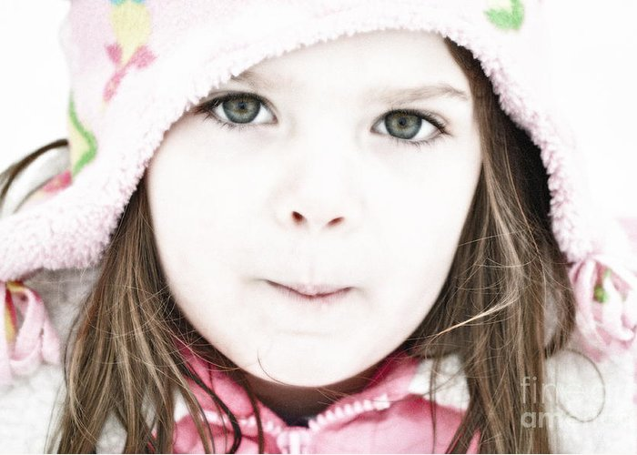 Snow Greeting Card featuring the photograph Snowy Innocence by Gwyn Newcombe
