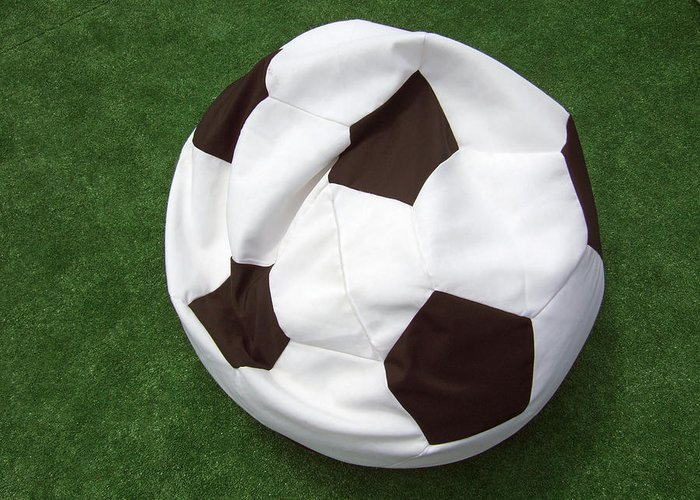 Ball Greeting Card featuring the photograph Soccer Ball Seat Cushion by Matthias Hauser