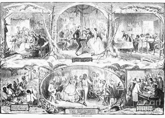 1861 Greeting Card featuring the photograph Social Activities, 1861 by Granger