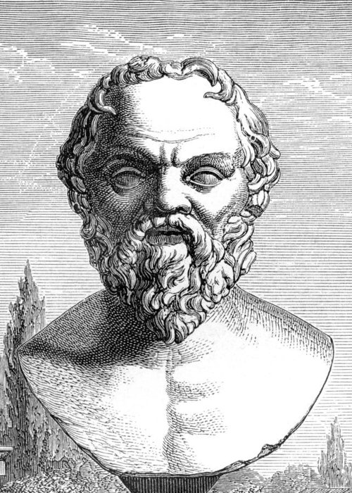 Socrates Greeting Card featuring the photograph Socrates, Ancient Greek Philosopher by
