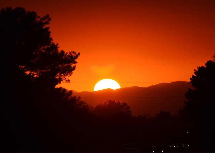 Sunset Greeting Card featuring the photograph Sol by Alberto Sanchez