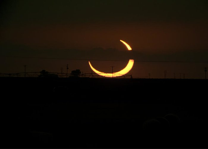 Eclipse Greeting Card featuring the photograph Solar Eclipse In Lubbock Texas by Melany Sarafis