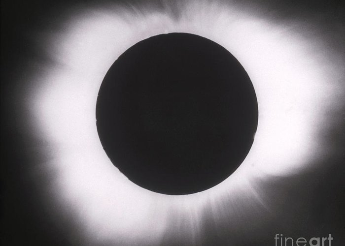 Solar Eclipse Greeting Card featuring the photograph Solar Eclipse With Outer Corona by Science Source
